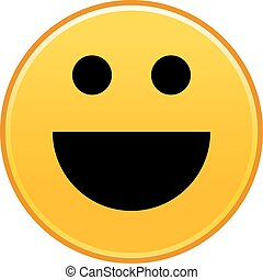 Yellow smiling face cheerful smiley happy emoticon.