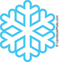 Snowflake Low Temperature Sign