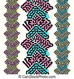 Seamless repeating textile, ink brush strokes pattern in...