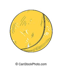 Retro ping pong ball - Isolated retro ping pong ball on a...