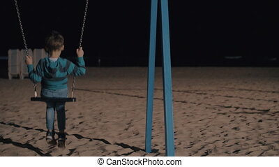 He wants to be alone now - Slow motion shot of a child being...