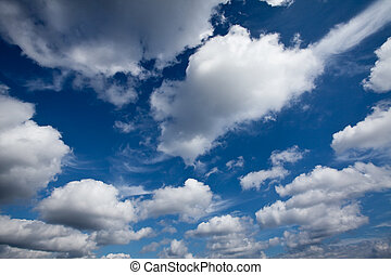 The clouds in the sky - The beautiful view of clouds in the...