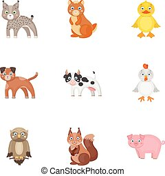 Farm, production, zoo and other web icon in cartoon style....