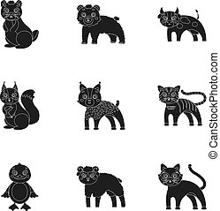 Farm, production, zoo and other web icon in black style....