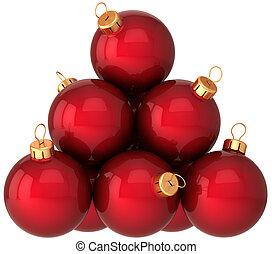 Christmas balls baubles (Hi-Res)