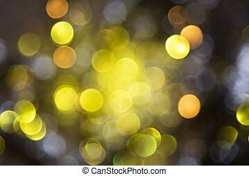 Sparkling Golden Lights Background, Party Or Christmas...