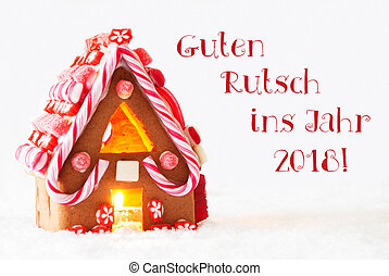 Stock Photo of Colorful Gingerbread House, Snowflakes, Guten ...