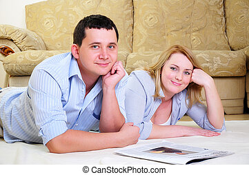young couple spends time together - A young couple spends...