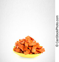 Junk food or snack food on a background. - Junk food or...