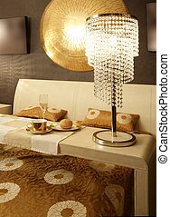 Asian modern bedroom breakfast luxury table - Asian modern...