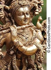ídolo, Señor, Krishna, flauta