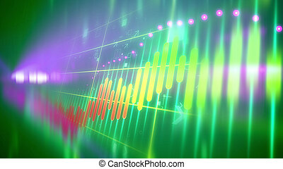 Sparkling business line chart - Dazzling 3d rendering of a...
