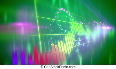 Choppy marketing line chart - Wonderful 3d rendering of a...