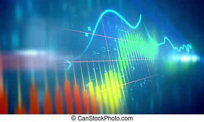 Choppy business line chart - Striking 3d rendering of a...