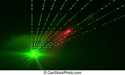 Abstract green star with straight rays - Super 3d rendering...