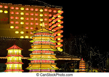 Chinese New Year Lanterns - Night image of Chinese New Year...
