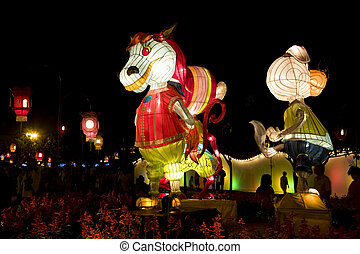 Chinese Animal Zodiac Lanterns - Image of Chinese animal...