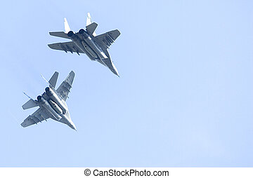 F/A-18 Hornet Jet Fighters - Image of a pair of Royal...