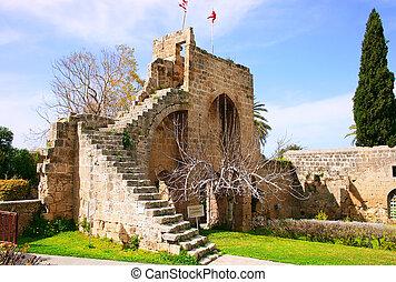 Bellapais abbey - Historic Bellapais Abbey in Kyrenia,...
