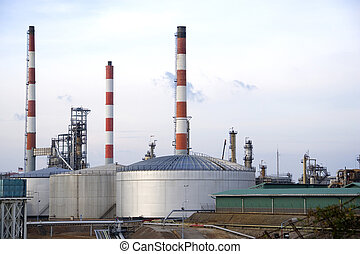 Oil Refinery - Image of oil refinery equipment in Malaysia.