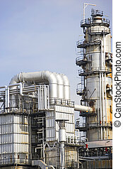 Oil Refinery - Image of oil refinery equipment in Malaysia