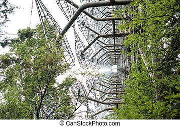 duga radar in Pripyat, Chernobyl - soviet duga radar in...