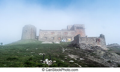 old abandoned observatory on mount Pip Ivan - Mist mountain...