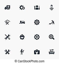 Vector Illustration Set Of Simple Mending Icons. Elements...