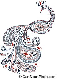 vector peacock in oriental style