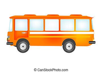Passenger bus - Red passenger bus for transportation of the...