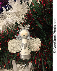 Wooden Fairy - A Wooden Christmas Angel Decoration