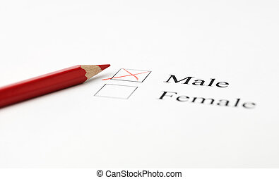 Checkboxes regarding gender