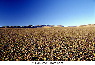 A deserted place in the Andes - High up in the Argentinean...