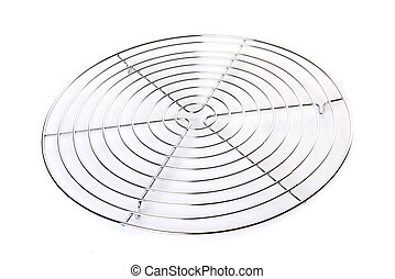 shelf dish for cake in front of white background