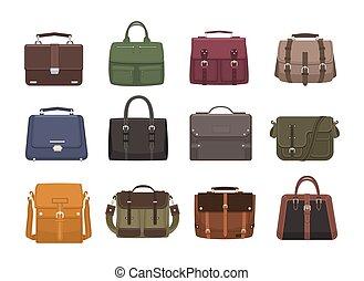 Bundle of trendy men s handbags - cross body, satchel,...