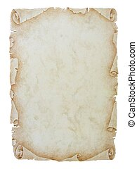 Vintage paper scroll background - An image of an old paper...