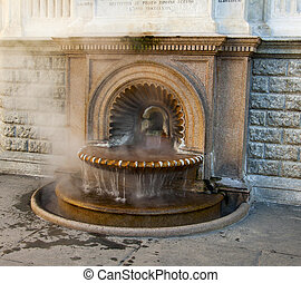 quot;La Bollentequot; fountain - Typical hot water fountain...