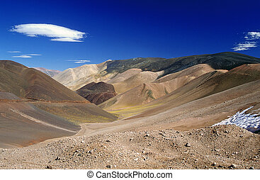 Beautiful Mountain Scenery - High up in the Argentinean...