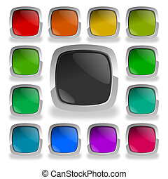 colorful glossy buttons