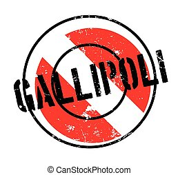 Gallipoli rubber stamp. Grunge design with dust scratches....
