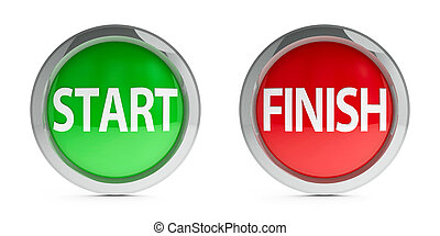 Icons start & finish with highlight - Web buttons start &...
