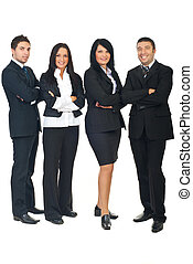 Full length of business people group - Full length of...