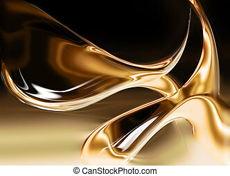 liquid gold background - computer generated for your...
