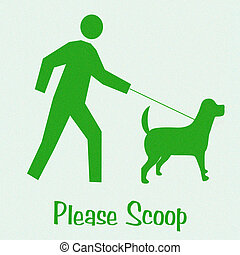 scoop the poop - dog and master please scoop poster...
