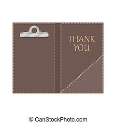 Leather folder for cash, coins and cashier check. Thanks for...
