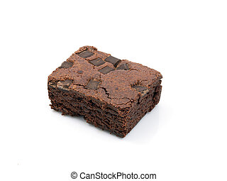 Brownie - Chocolate chip brownie on white