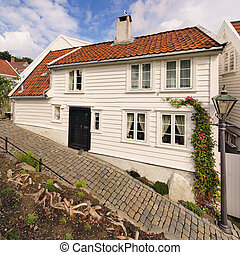 Old houses in Stavanger, Norway.