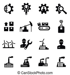 Industrial icon - Set of icons the industry. A vector...