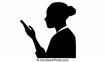 Businesswoman with smartphone - Video of a businesswoman...