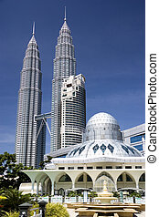 KLCC Mosque - A modern designed mosque located at the Kuala...